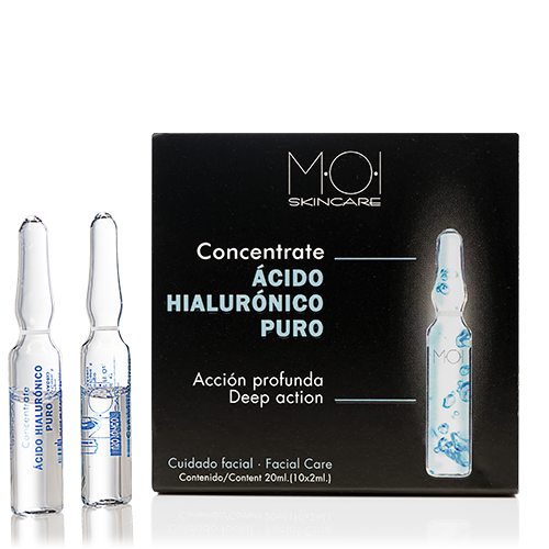 Ácido Hialurónico Puro Concentrate - Faciales - 10 Ampollas 2 ml