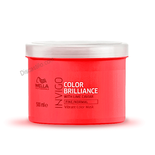 Wella Brillance Mascarilla Cabello Fino Normal Coloreado 500 ml