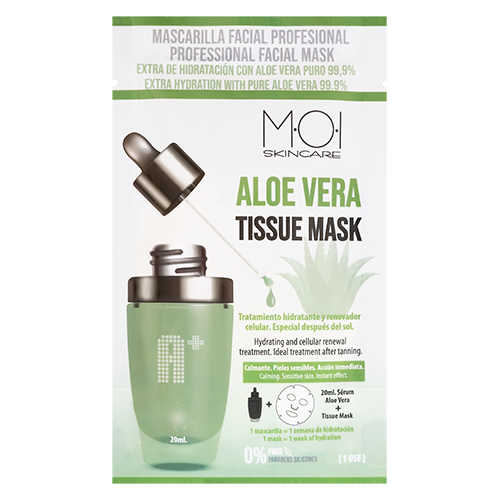 Mascarilla Facial Aloe Vera Tissue Mask Extra-hidratante Especial After Sun 1 Uso